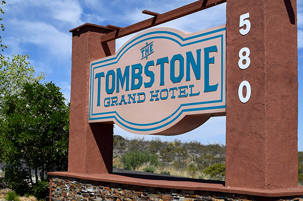 Tombstone Grand Hotel signage