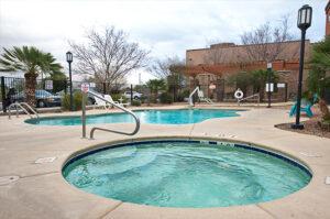 A jacuzzi pool area