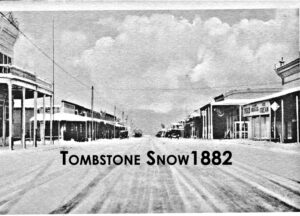 A view of snow in Tombstone in 1882