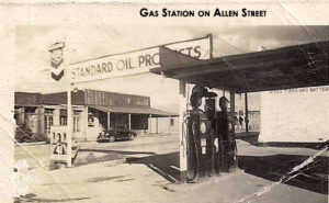 An image of the gas station at Allen Street