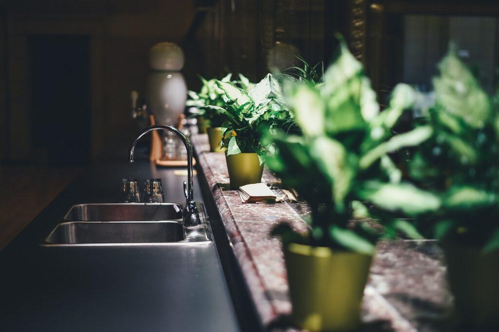 kitchen, tap, sink