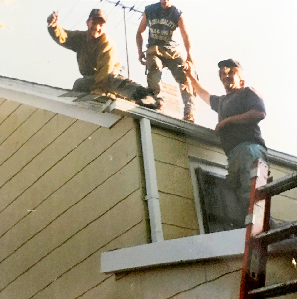 """""""The Boys"""", way back when in the early days, sometime in the early 90's before Shingle it Two first began."""