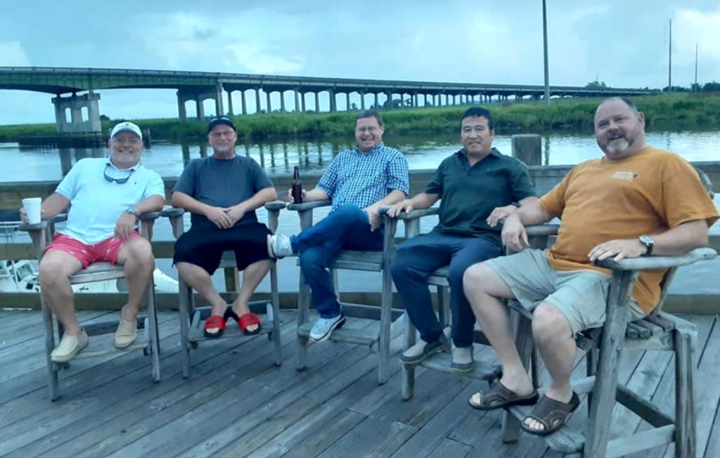 L-R: Timothy Burkhead, Allen O'Cain, Steven Poppell, Chito Peppler, Chris Brady Brady