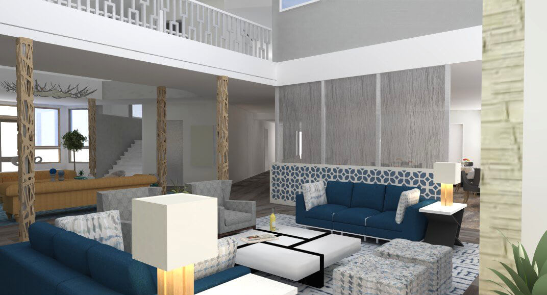 Sopris Lodge Interior Rendering