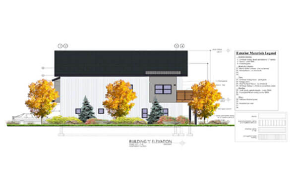 Sopris Town Homes individaul unit rendering