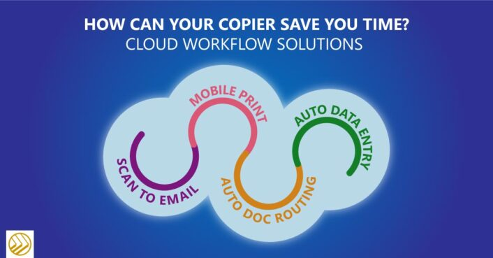 Cloud workflow solutions graphic