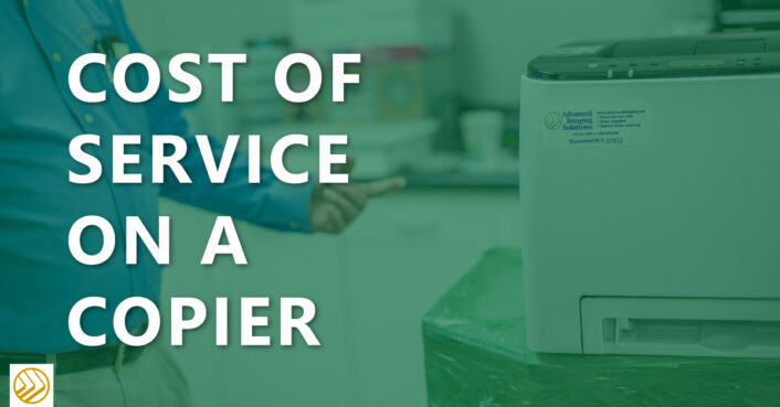Cost of service on a copier