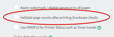 validate page counts - PaperCut
