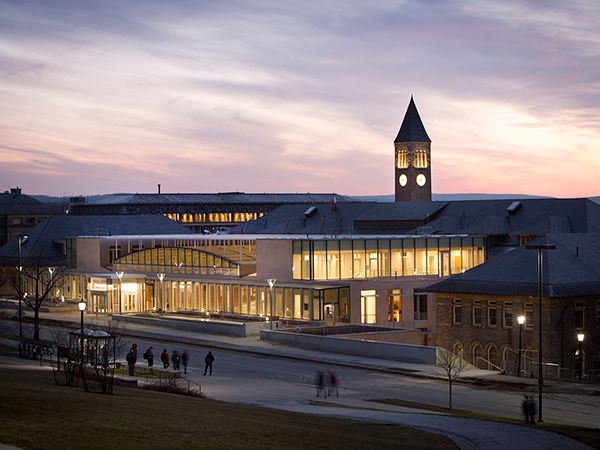 A view of the Klarman Hall in the Cornell University