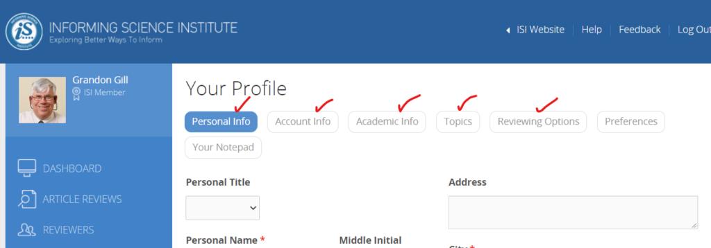 Profile elements