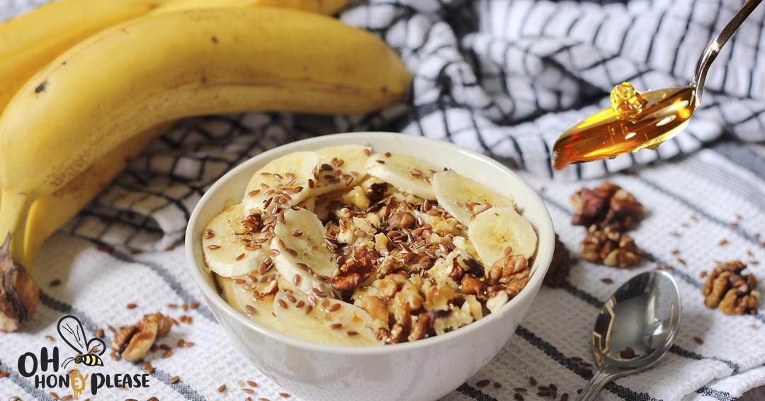 Banana, Nut and Honey Porridge