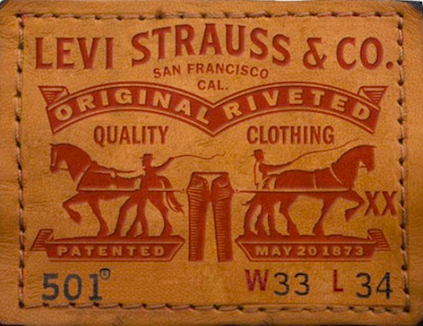 Traditional logo design example from Levi Strauss & Co.   Branding Is What We Do, Denver, CO
