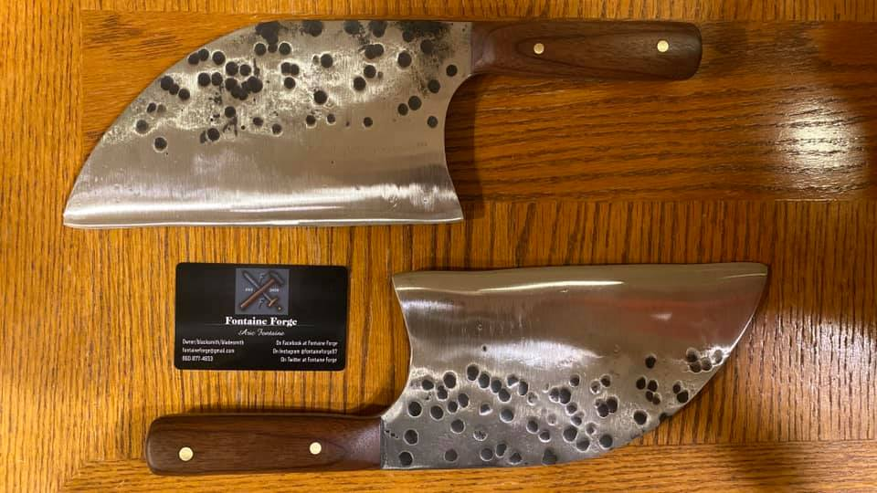Serbian Style Cleaver knives
