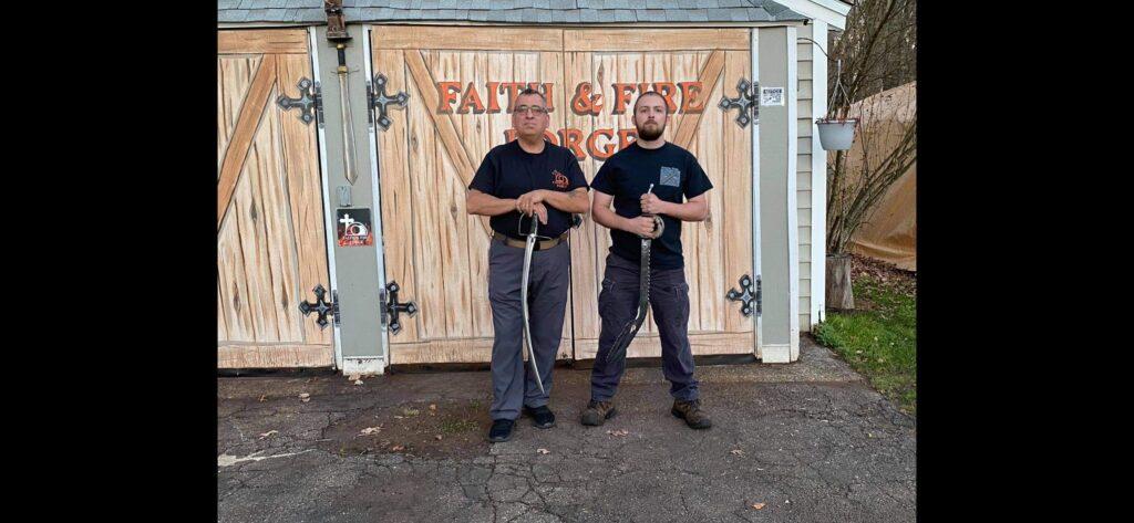 Aric Fontaine with Brian Erlich blacksmiths
