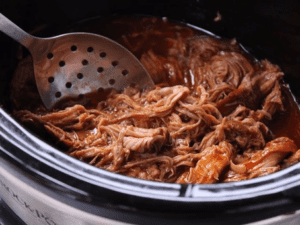 Slow Cooker Pulled Pork with Pineapple BBQ Sauce