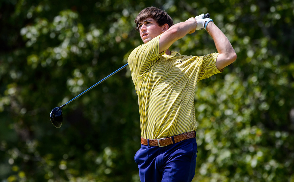 Ollie Schniederjans during the final round of the Carpet Capital Collegiate, The Farm Golf Club, Rocky Face, Ga., September 7, 2014