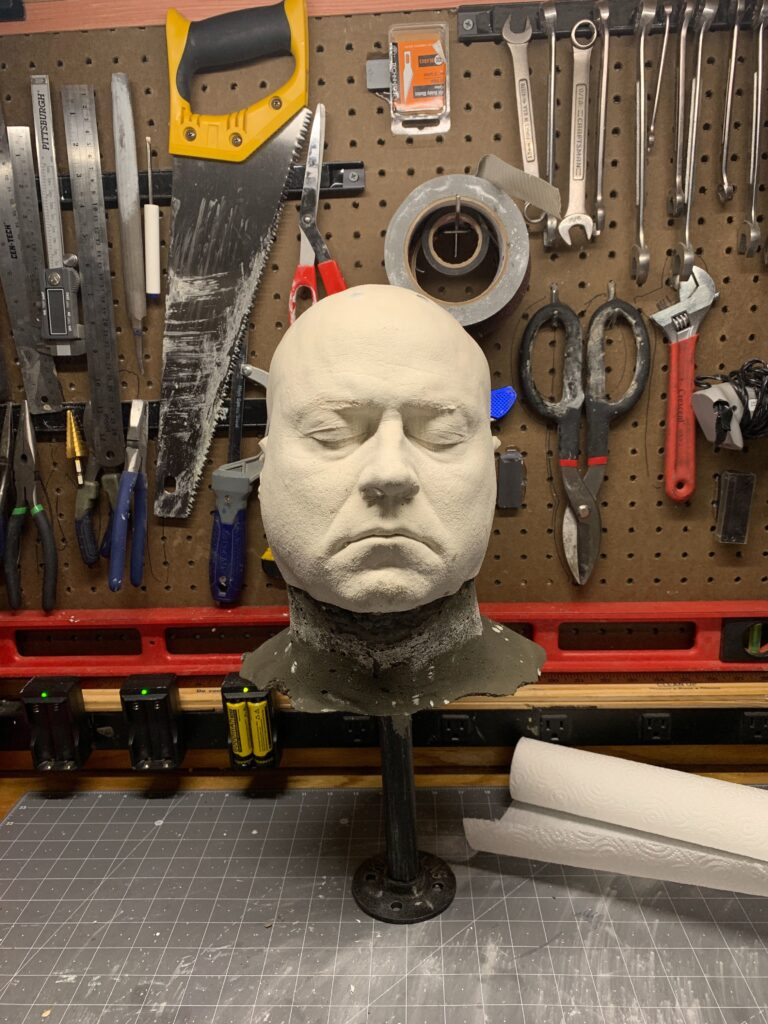 Guy's molded head for silicone mask making