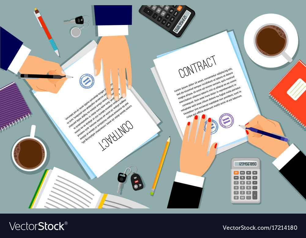 signing loan contracts