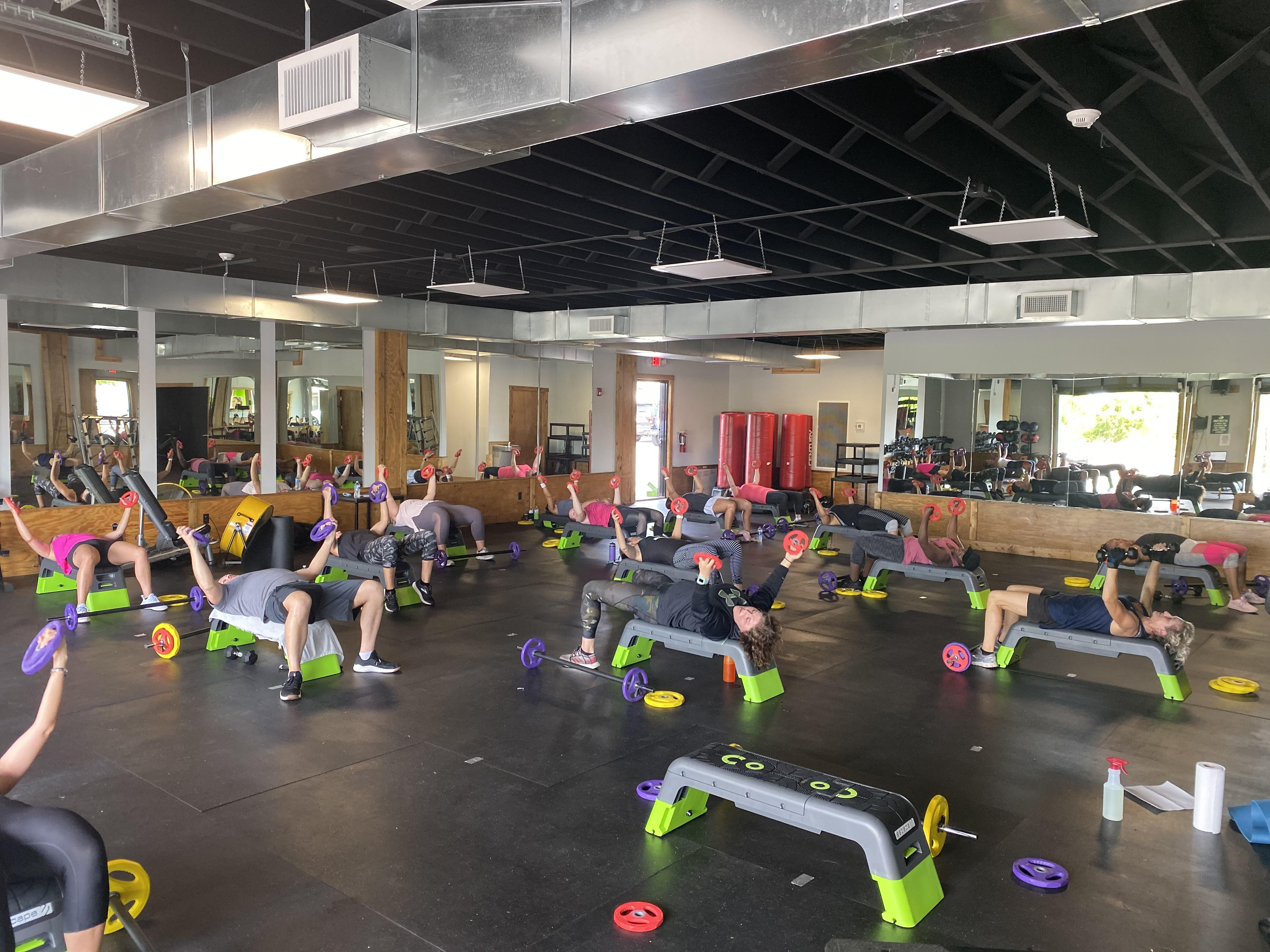 class of group fitness