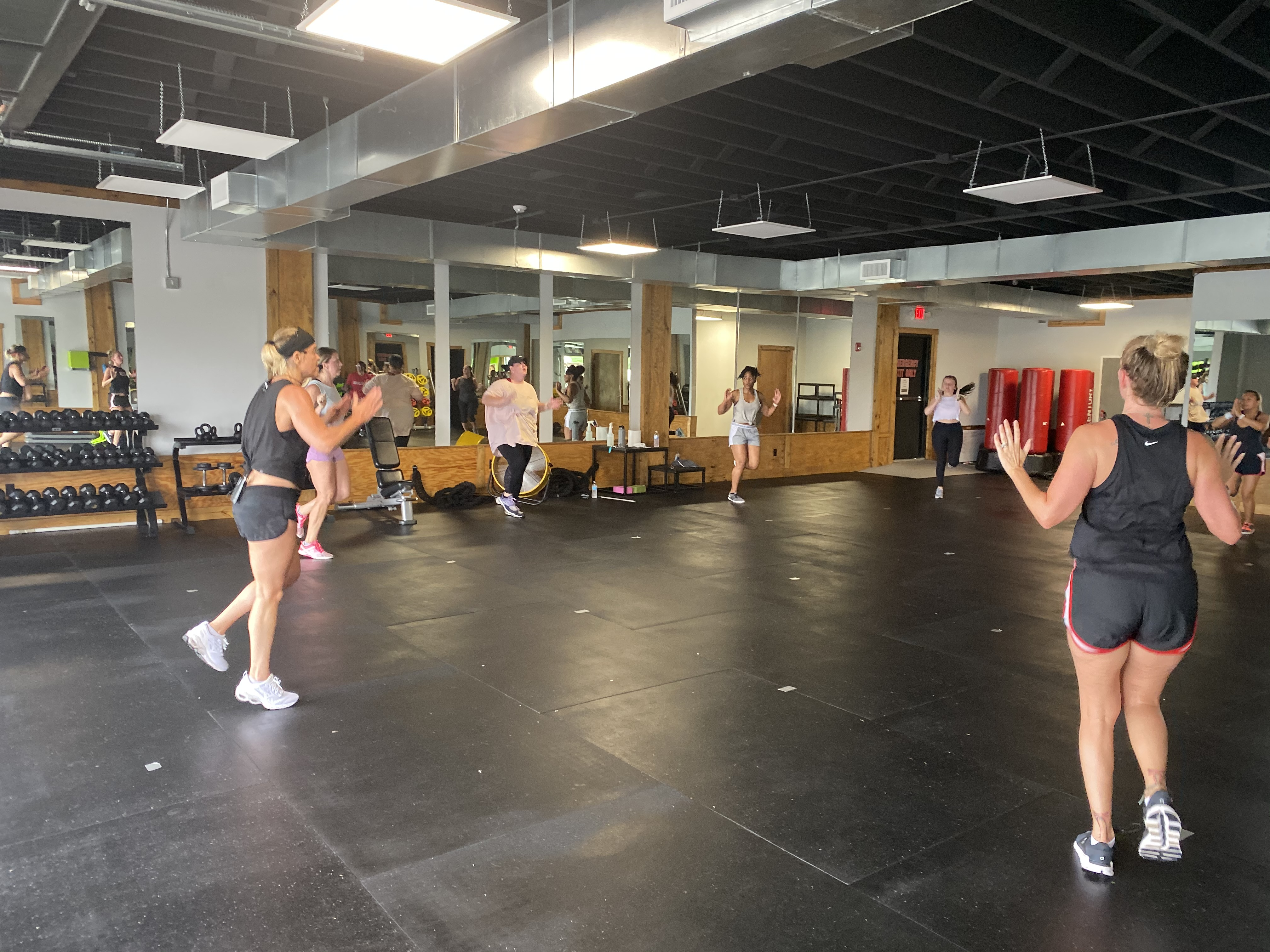 fitness group class