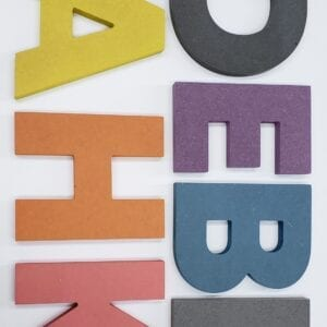 Colored MDF Letters