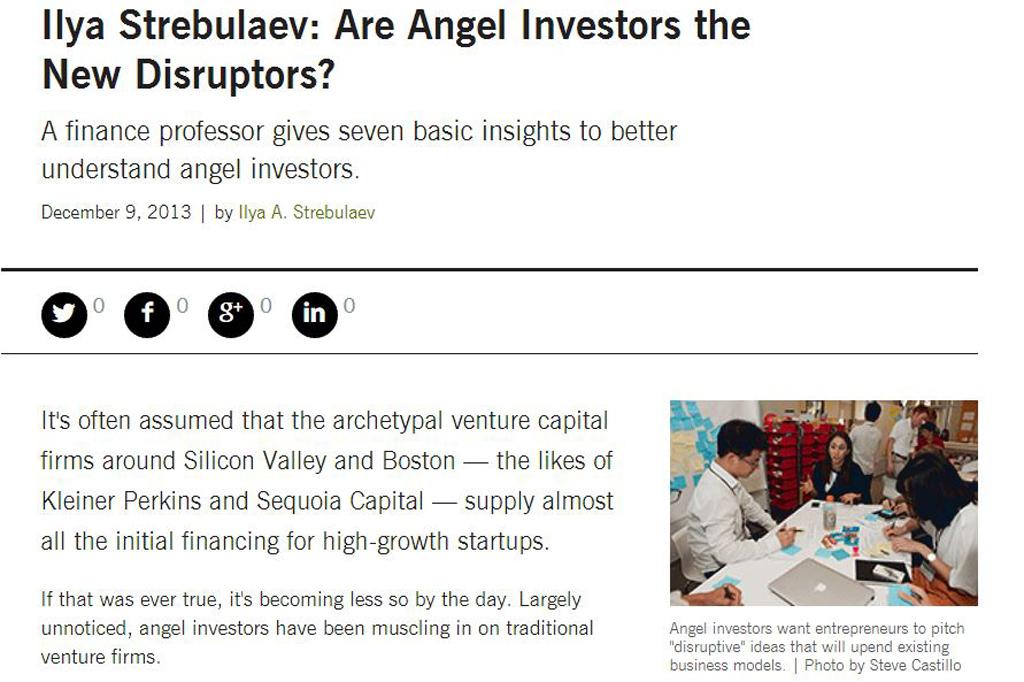 Ilya Strebulaev: Are Angel Investors the New Disruptors?