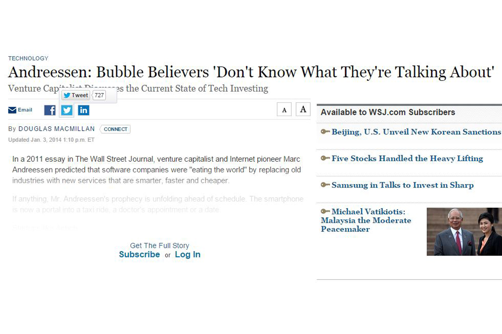 Andreessen: Bubble Believers 'Don't Know What They're Talking About'