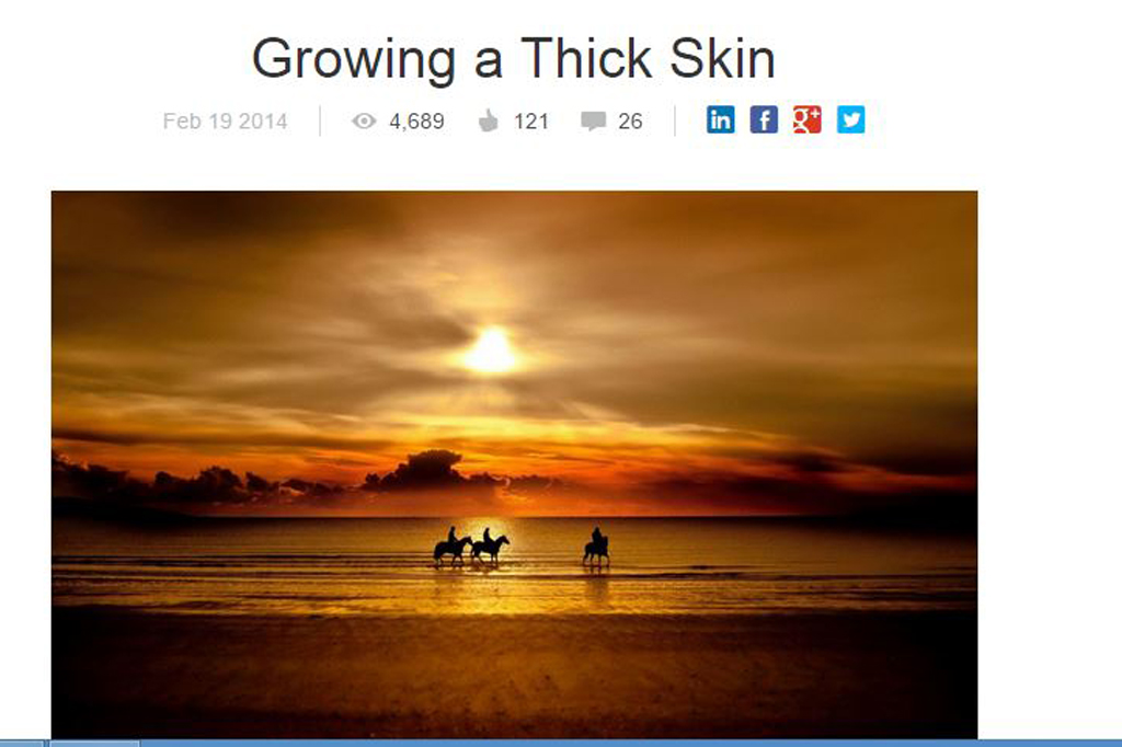 Growing a Thick Skin