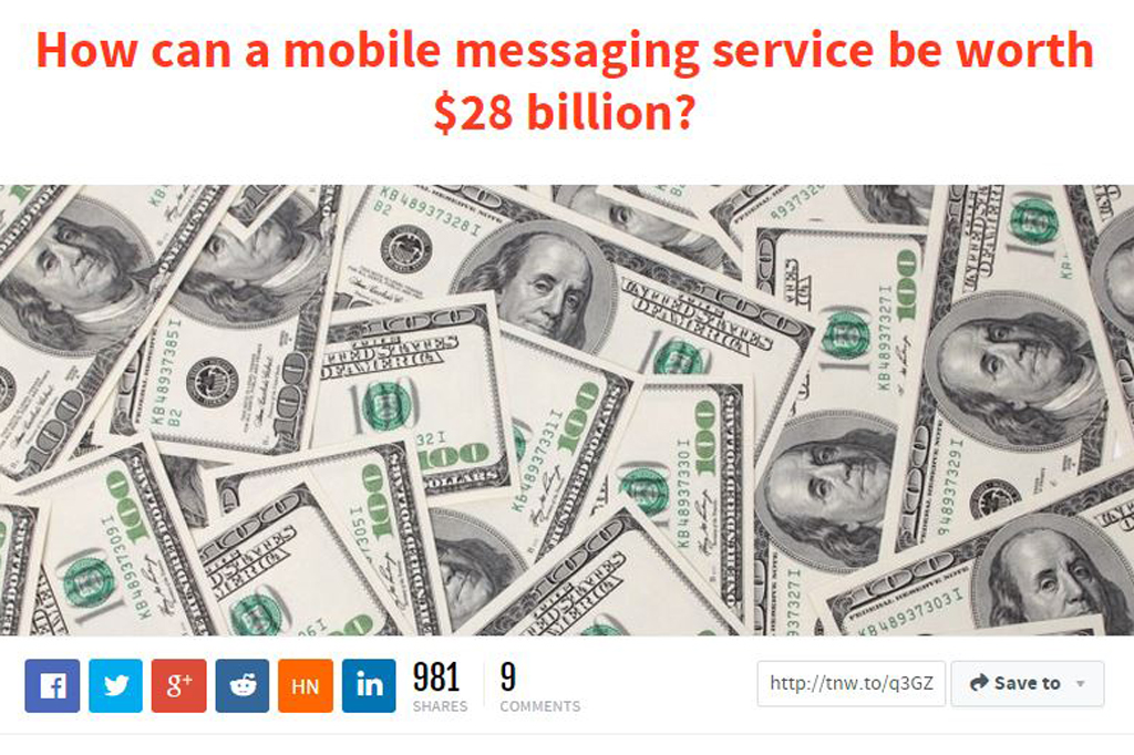 How can a mobile messaging service be worth $28 billion?