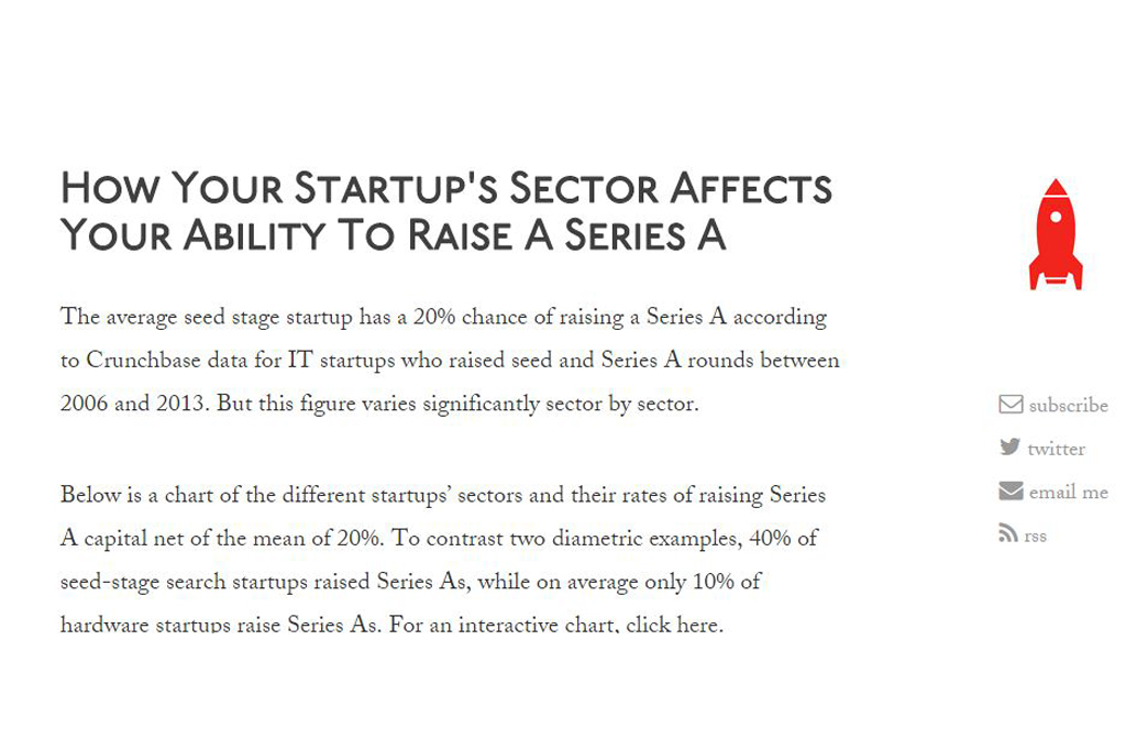 How Your Startup's Sector Affects Your Ability To Raise A Series A