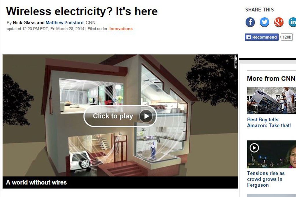 Wireless electricity? It's here