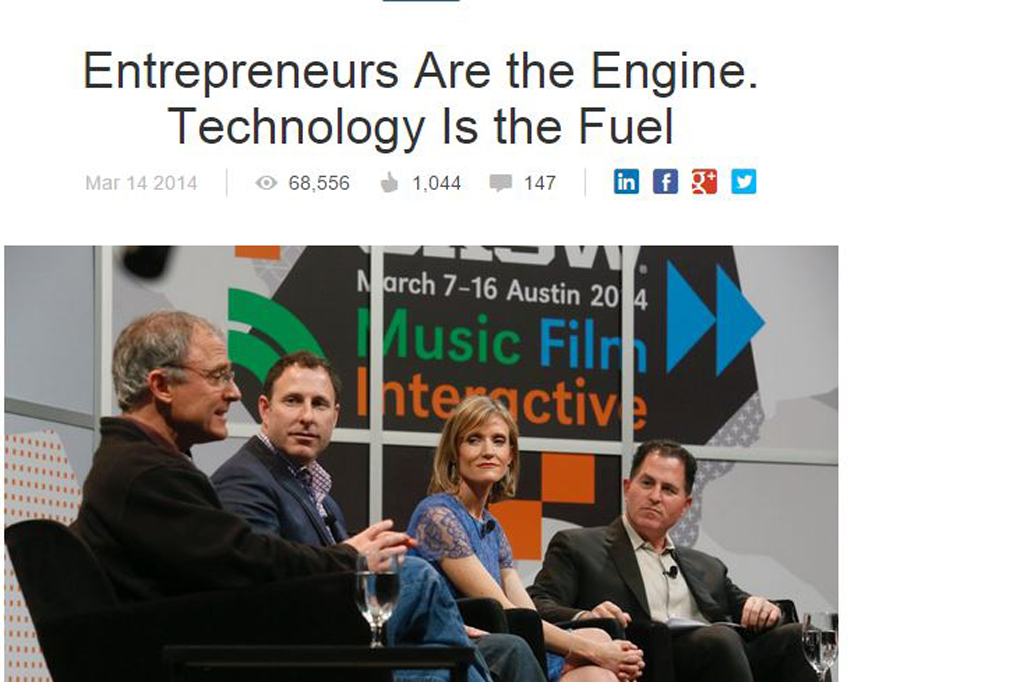 Entrepreneurs Are the Engine. Technology Is the Fuel