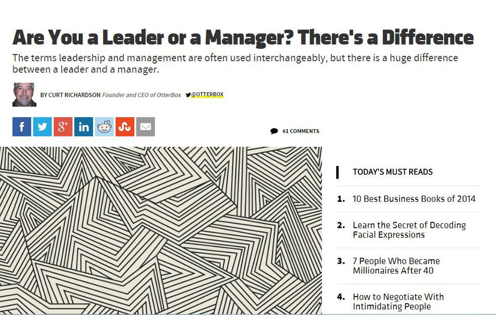 Are You a Leader or a Manager? There's a Difference