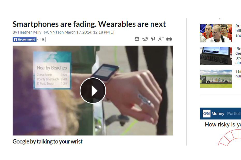 Smartphones are fading. Wearables are next