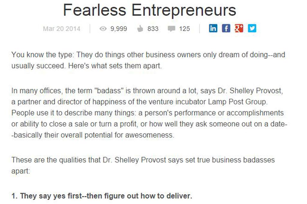 Fearless Entrepreneurs