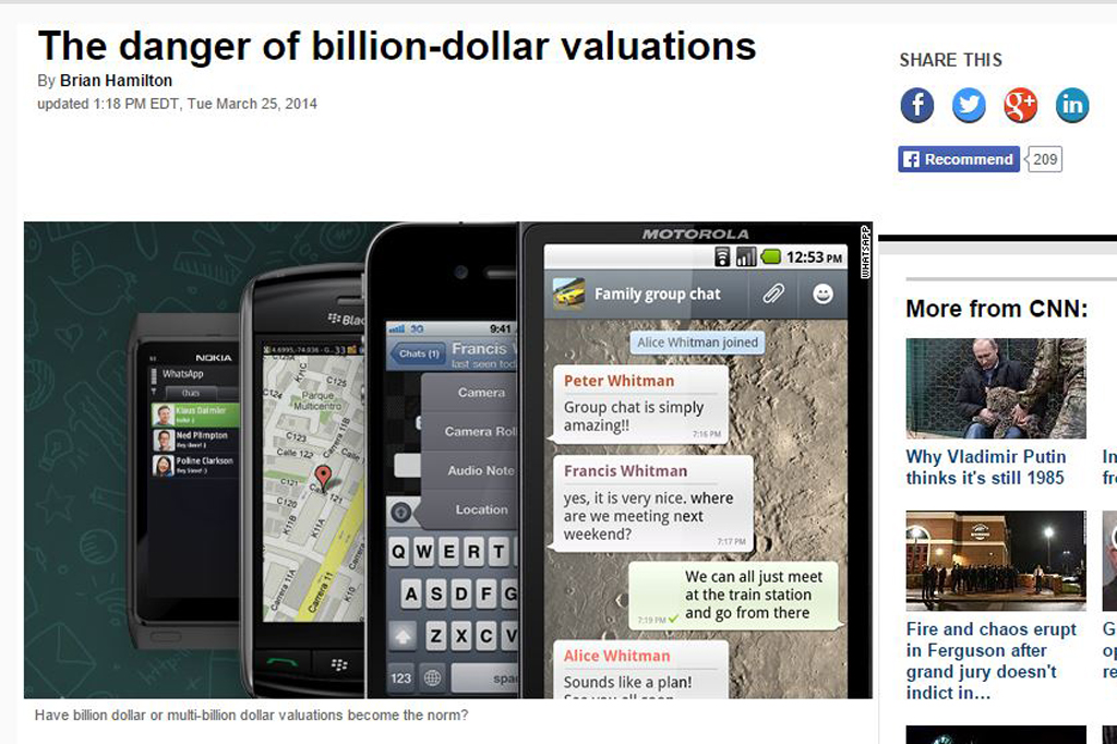 The danger of billion-dollar valuations
