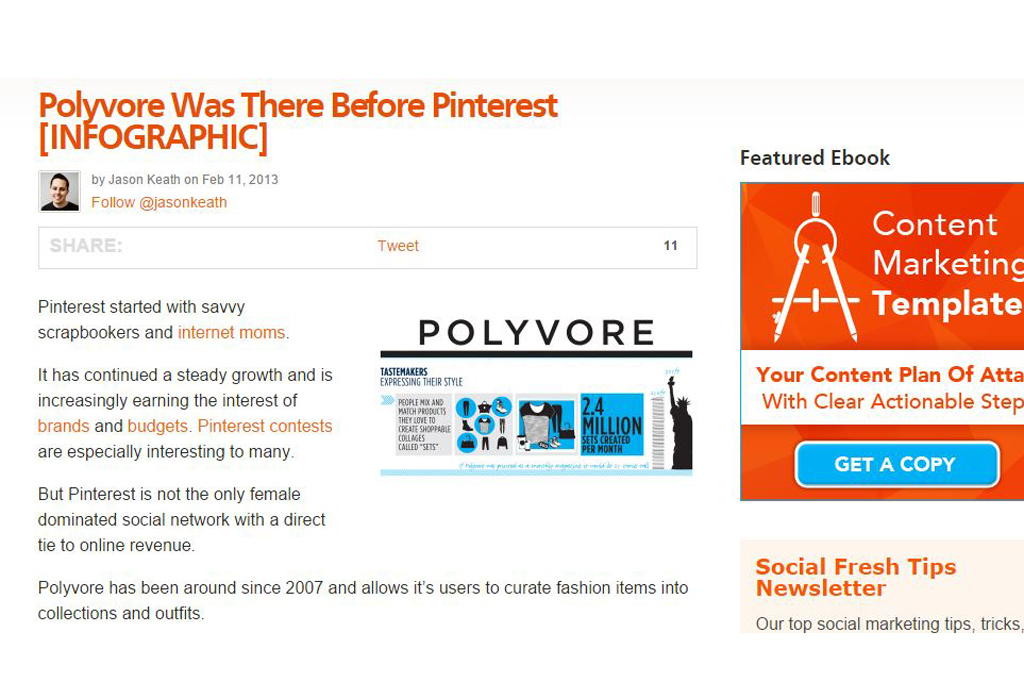 Polyvore Was There Before Pinterest [INFOGRAPHIC]