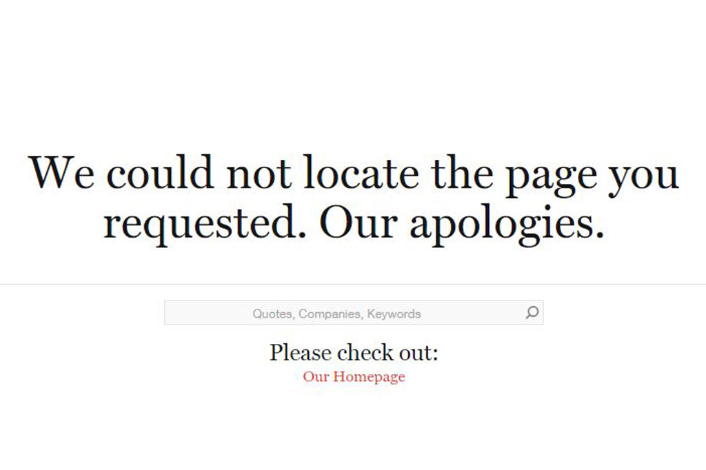 We could not locate the page you requested. Our apologies.