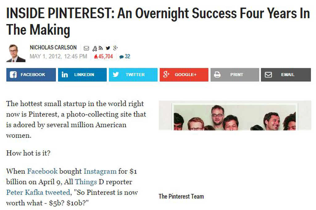 INSIDE PINTEREST: An Overnight Success Four Years In The Making