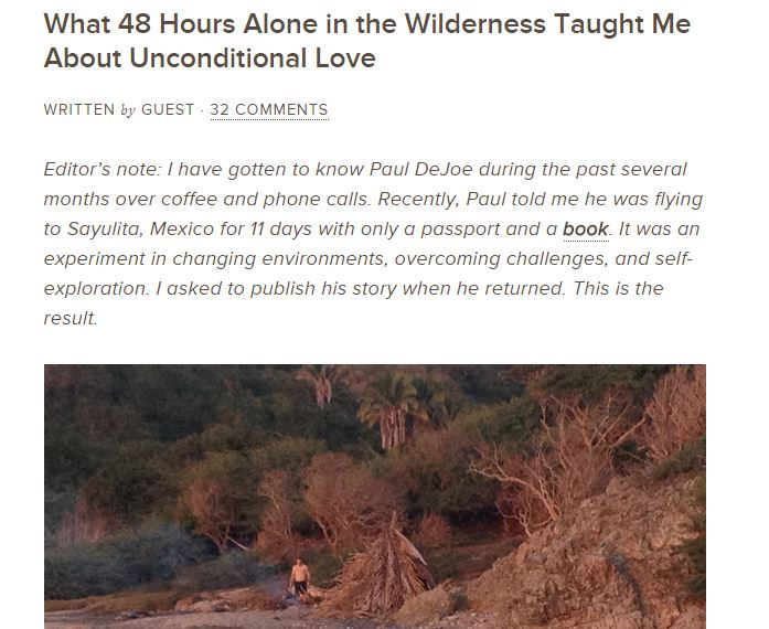 What 48 Hours Alone in the Wilderness Taught Me About Unconditional Love