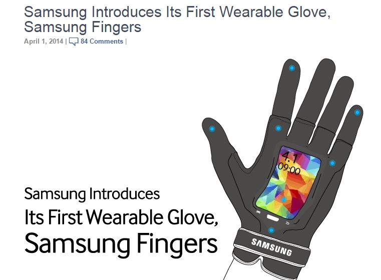 Samsung Introduces Its First Wearable Glove, Samsung Fingers