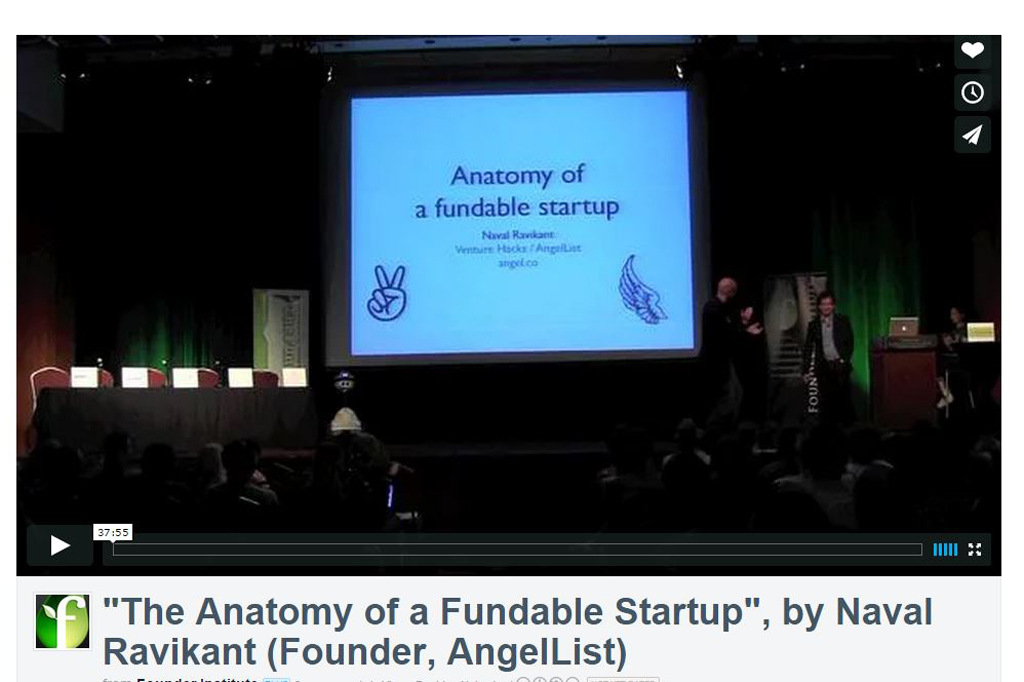 """""""The Anatomy of a Fundable Startup"""", by Naval Ravikant (Founder, AngelList)"""