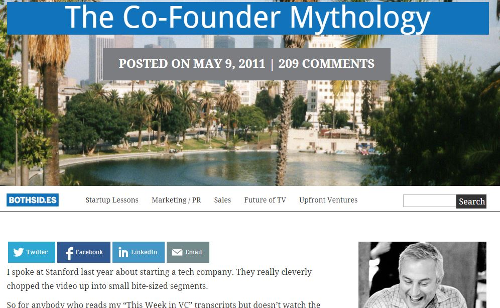 The Co-Founder Mythology