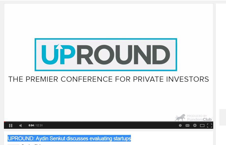 UPROUND: Aydin Senkut discusses evaluating startups