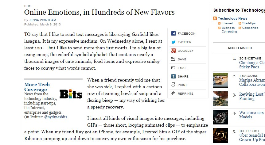 Online Emotions, in Hundreds of New Flavors