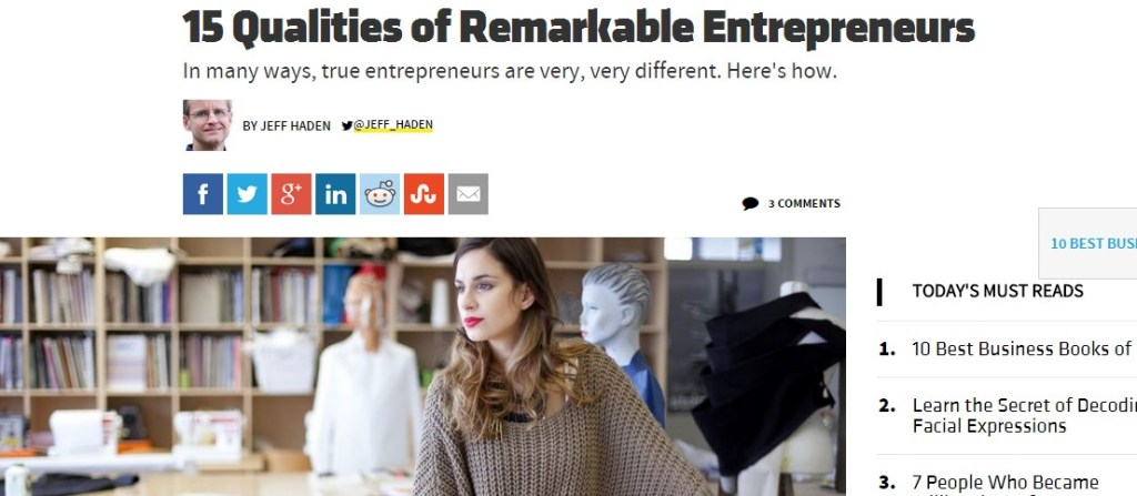 15 Qualities of Remarkable Entrepreneurs