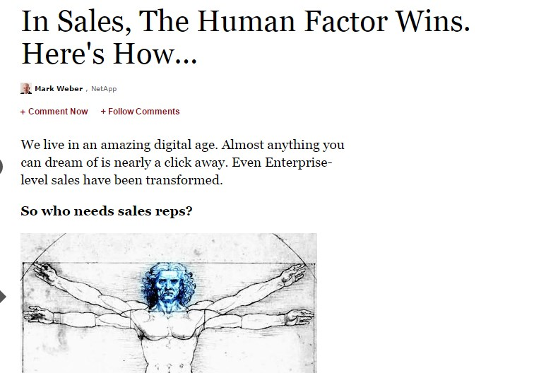 In Sales, The Human Factor Wins. Here's How...