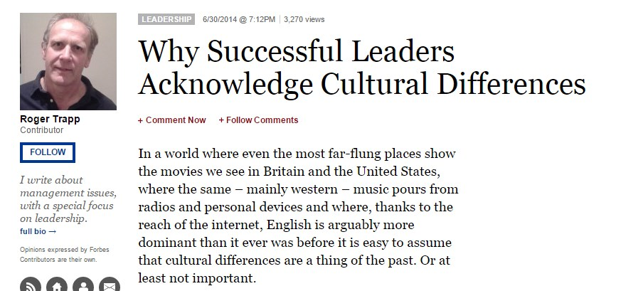 Why Successful Leaders Acknowledge Cultural Differences