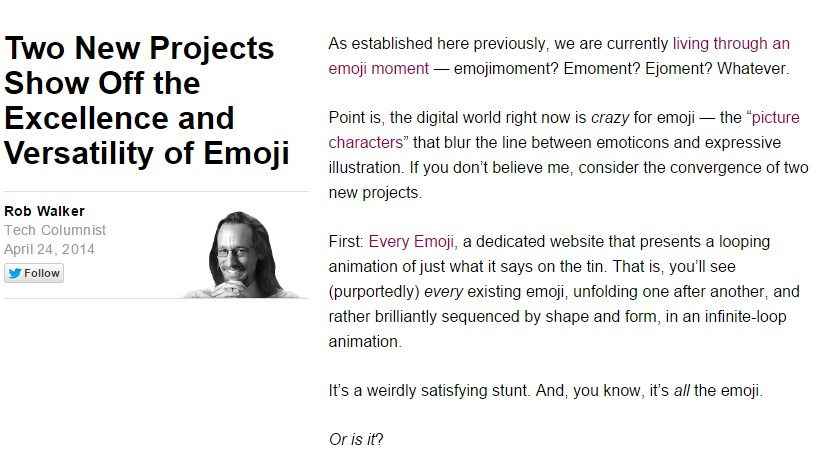 Two New Projects Show Off the Excellence and Versatility of Emoji