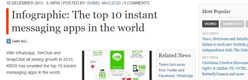 Infographic: The top 10 instant messaging apps in the world